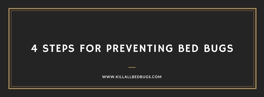 Preventing Bed Bugs - 4 Steps